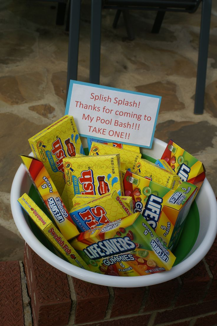 party favors for pool/beach party...keeping it simple ;)