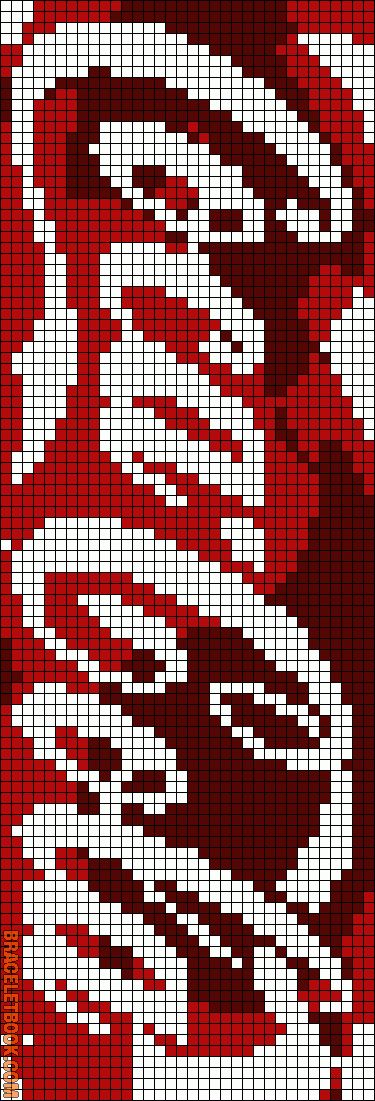 Cross-stitch Coca-Cola Bookmark... no color chart available, just use the pattern chart as your color guide.. or choose your own colors...