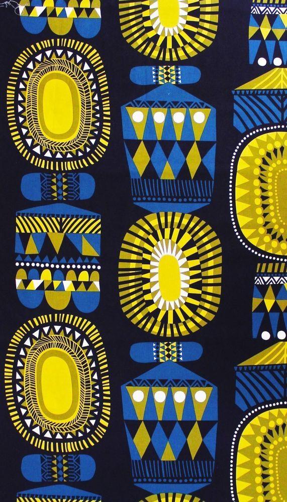 Marimekko, Lamppupampula cotton fabric by Sanna Annukka 2013, 145x50cm