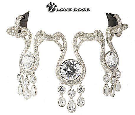 Diamonds for doggies: Dogs Diamonds, Diamonds Collars, Dogs Collars, Expen Dogs, Diamonds Dogs, Center Diamonds, Amour Amour, Most Expensive, Crocodiles Leather