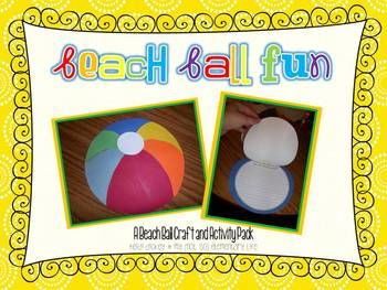 Beach Ball Craft great to add to a bulletin board for the end of the year