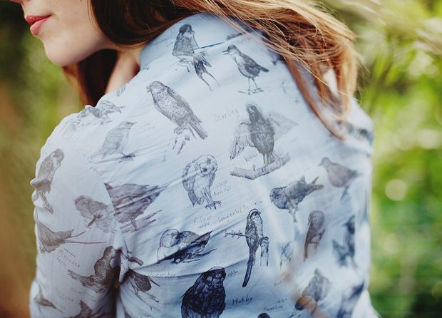 WishWishWish, shirt, pattern, owl, birds, design, fashion, drawing, illustration