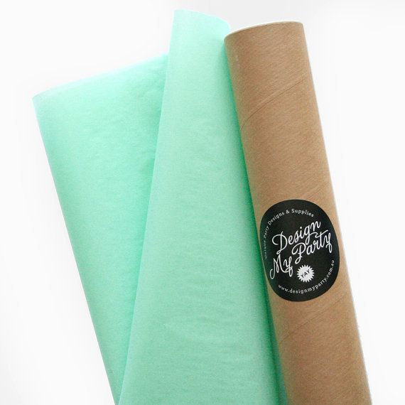 Cool Mint Tissue Paper 40 Sheets 500mmx760mm by DesignMyPartyShop