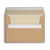 Cameo Brown Striped Envelope