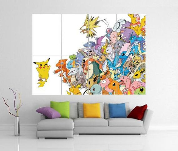 Pokemon Pikachu Giant Wall Art Picture Poster By A1posterart 13 99