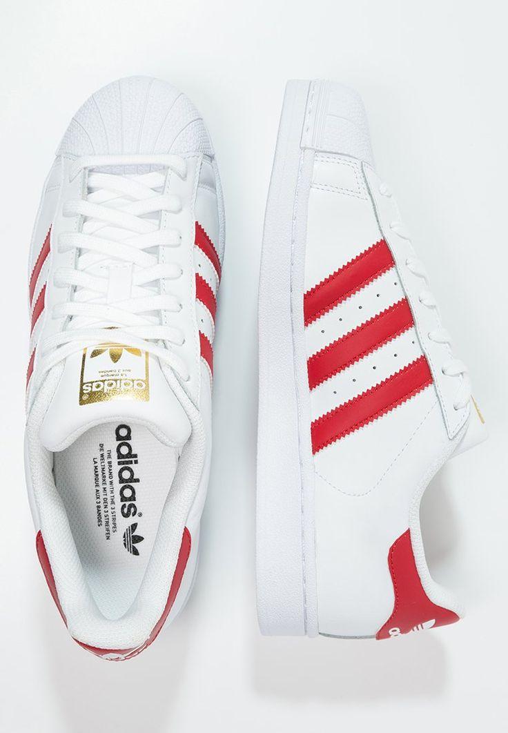 adidas Originals SUPERSTAR FOUNDATION - Baskets basses - white/scarlet - Plus de codes promo chez www.cuponation.fr