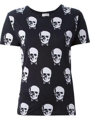 SAINT LAURENT - skull print T-shirt