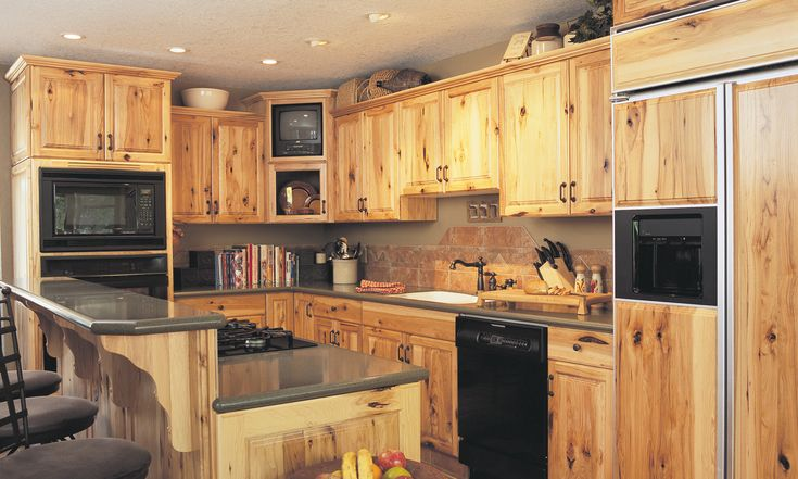 Knotty+Hickory+Kitchen+Cabinets