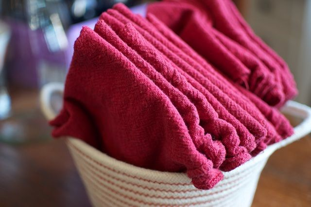 shop rags as cloth napkins