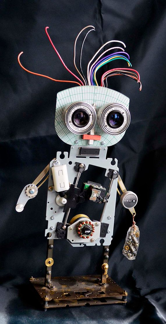 Steampunk robot made from old recycled materials. by wedoart, $95.00