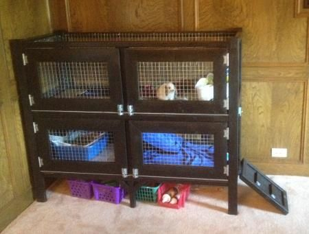 Two story rabbit hutch do it yourself home projects from for 2 story guinea pig cages for sale