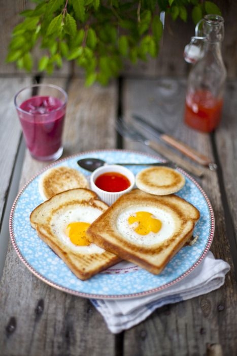 Yum egg in a hole!