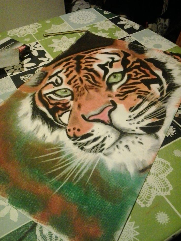 Tigre a pastel. Khristina Regos