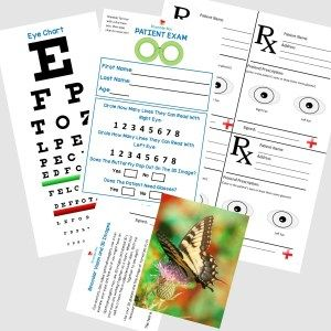 Free pretend play Eye Doctor printables from Bramble Box. www.brambleboxprops.com.
