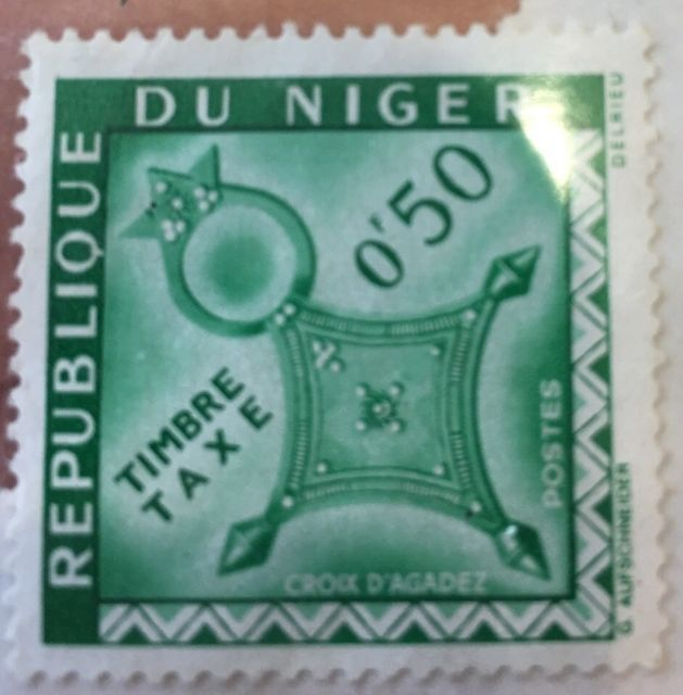 Republique du Niger Timbre taxe 0f50. Croix D' Agadez Postes Vintage stamp   eBay