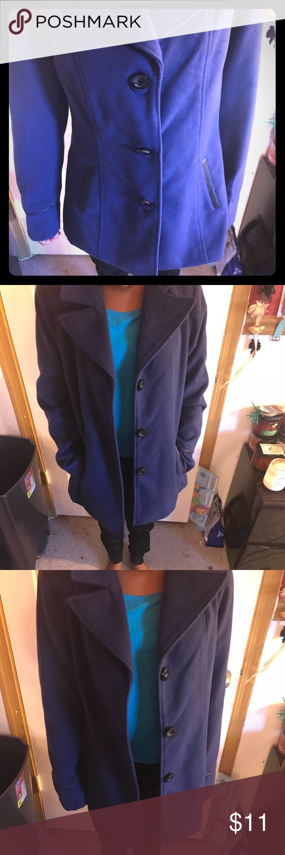 Blue and black trench coat Blue and black trench coat Jackets & Coats Pea Coats