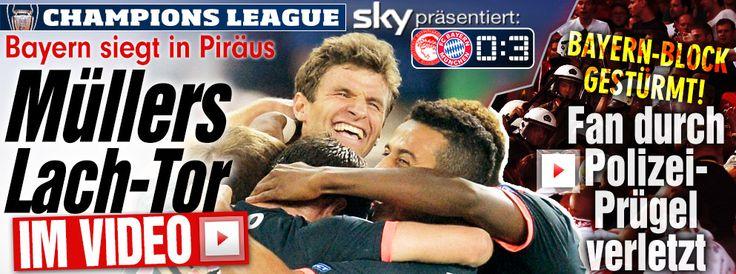 8x teilgenommen+mind. je 1 Tor pro #Championsleague+mit 30 Treffern ist astro #snake #Mueller d.erfolgreichste Deutsche in diesem Wettbewerb (seit 1992). - Am Ende lacht immer der #Mueller! @esmuellert_ traf i.d. letzten 5 Pflichtspielen mind. je 1x. In d.letzten 7 Spielen für Bayern+DE erzielt er 11 Tore, davon 8 für #FCBayern. http://www.bild.de/sport/fussball/bayern-muenchen/sieg-gegen-piraeus-in-champions-league-42608536.bild.html