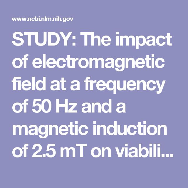 STUDY: The impact of electromagnetic field at a frequency of 50 Hz and a magnetic induction of 2.5 mT on viability of pineal cells in vitro.