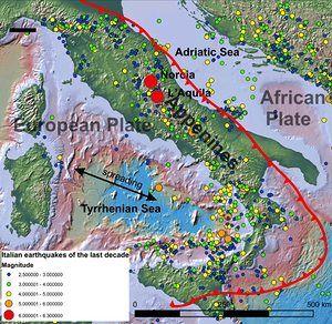 Italian earthquakes of the last decade. Data source: USGS