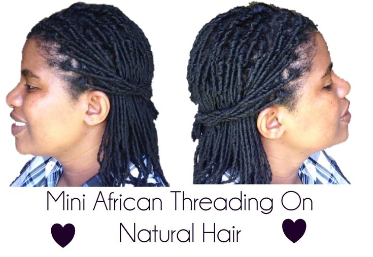 Mini African Threading on Natural Hair