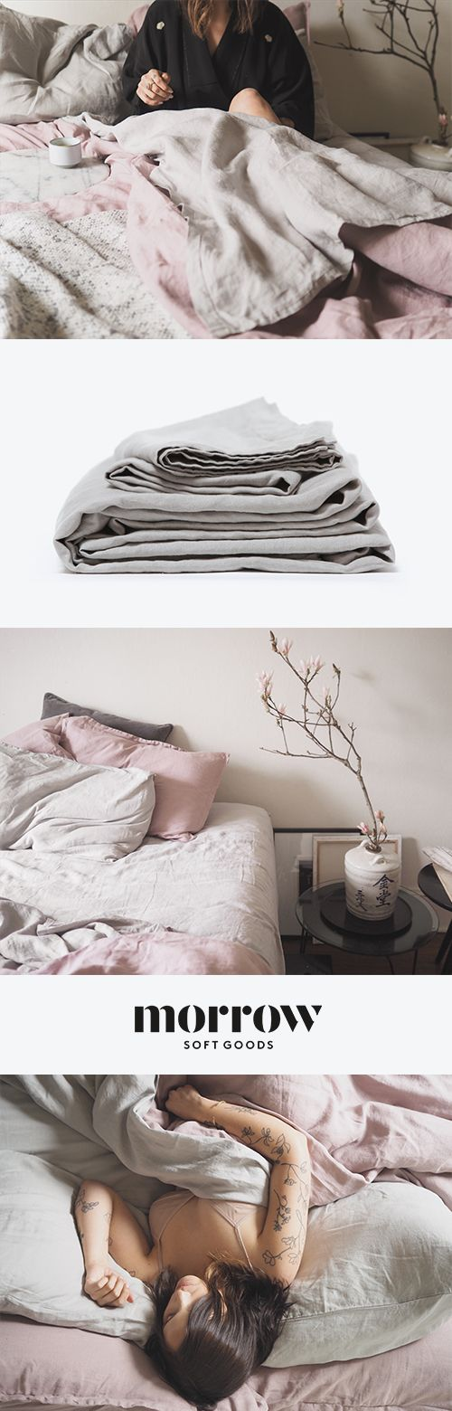 MORROW | Our Heirloom Linen Collection is made of the softest, most durable 100% flax linen from France. While even the highest quality cotton bedding taps out after 3 to 5 years, our linen can last a decade or more and only gets softer with use. It�s a sustainable investment in your sleep that you can feel good about. Based in Los Angeles, Morrow Soft Goods designs, manufactures and sells specialty premium home textiles for the most discerning customer.