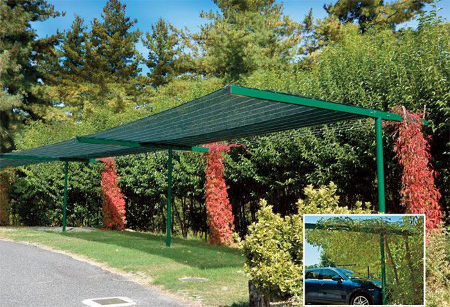 Una struttura ombreggiante fai da te ci permette di parcheggiare l'automobile senza farla arroventare sotto il sole. Ecco come costruirla passo-passo.