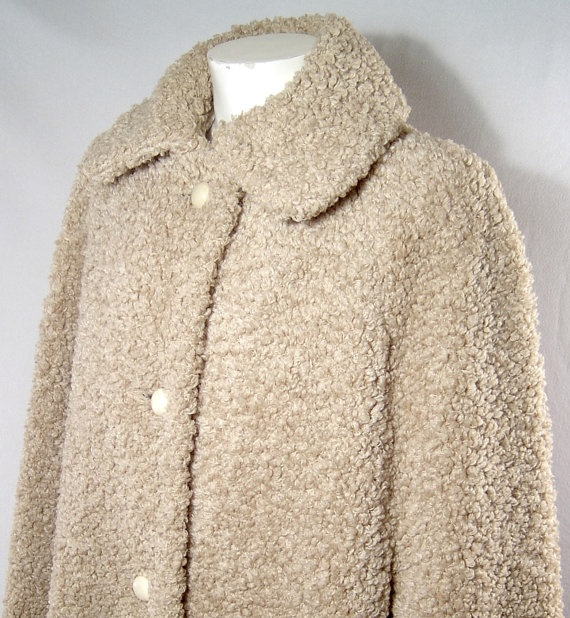 Vintage 1960s Wetherall boucle wool cloak  creamy tan by fatspazzy, $90.00
