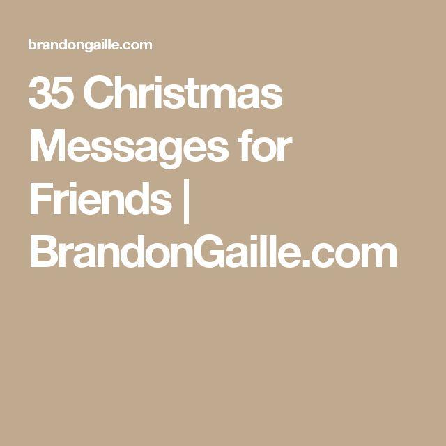 35 Christmas Messages for Friends | BrandonGaille.com
