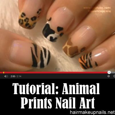 Animal Prints Nail Art Tutorial