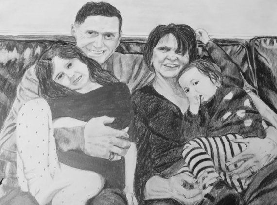 Custom hand drawn portrait from photo by artist Brian Romacho.  Honor someone special with a custom hand drawn portrait! Makes a great gift for holidays, birthdays, anniversaries, engagements, weddings or memorials.  Mediums: Pencil and charcoal Size: 11x14 Ultra Smooth Heavyweight Bristol Vellum  Send high resolution, clear, close-up photo so I can see and reproduce fine details. Please dont send blurry or far away photos.  Progress photos will be sent throughout the creation process…