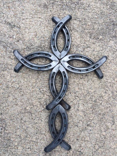 Unique Horseshoe Cross by TexasHorseshoeDecor on Etsy