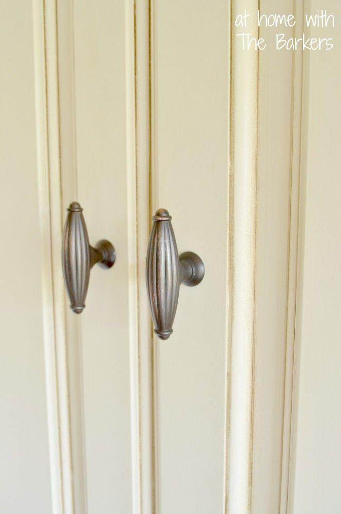 Glazed Kitchen Cabinets- Details: equal parts of Clear Glaze & Valspar's Brazilian Brown (VR098A)