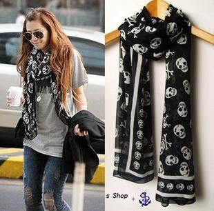 Chiffon scarf - SS  -   - Skull Sector