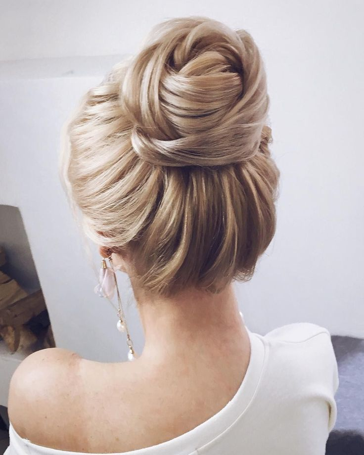 Textured Wedding Updo Hairstyle Messy Updo Wedding