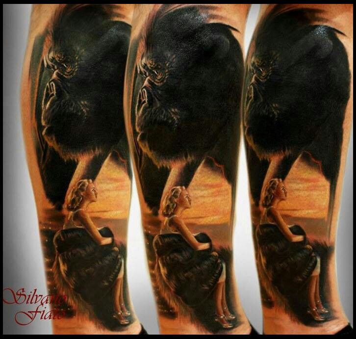 king kong tattoo by silvano fiato ink pinterest awesome tattoos and body art and king. Black Bedroom Furniture Sets. Home Design Ideas