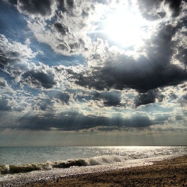 Clouds over Hove beach