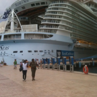 Incredible!! Allure of the Seas (Royal Caribbean).  April 2012 - Best cruise-12 over the last 40 years.  Superior Service and Aqua Theatre - Awesome!