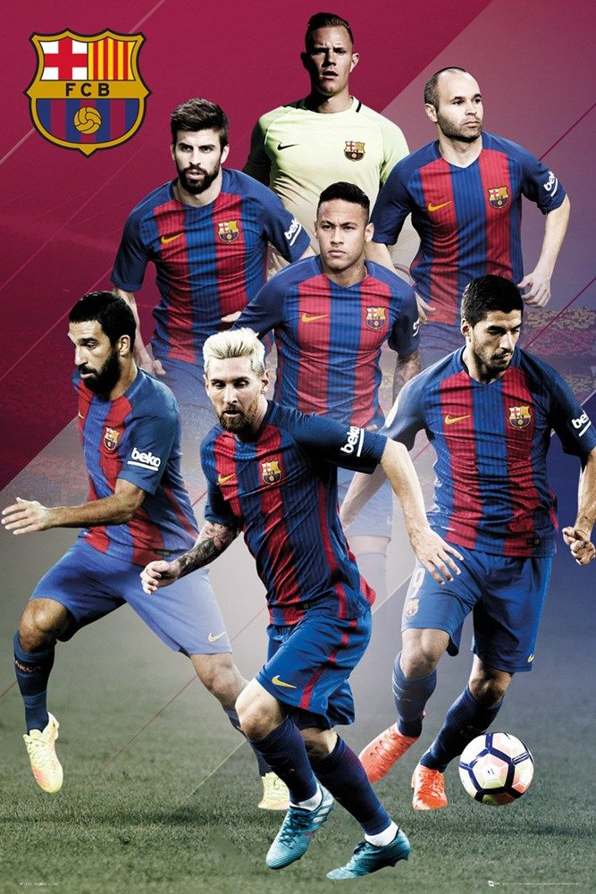 Barcelona Players 16/17 Maxi Poster   UK Store   Oneposter.com