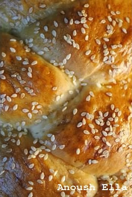 In Armenian tradition, a big batch of choreg is baked for Easter, with one of the braided choreg loafs containing a coin for good luck to whomever gets it.  It is a rich brioche-like holiday bread, traditional also to the Greeks, who bake it on Christmas, Easter, and New Year's.  It is also known as nazook, tzoureki, christopsomo, and vasilopita.