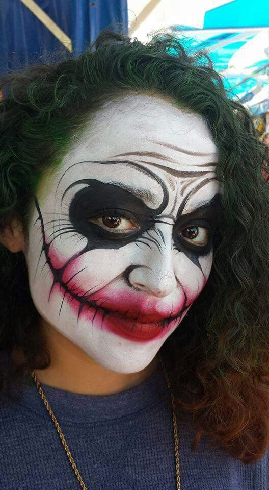 Mark Teid Joker Face Painting Design