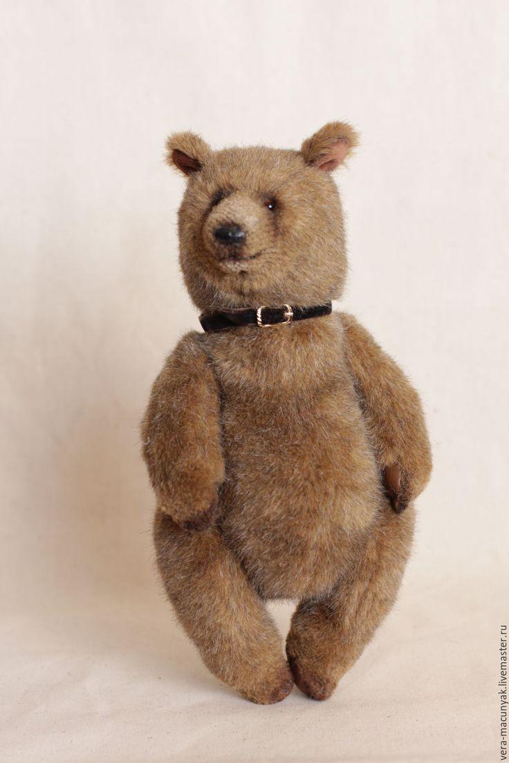 Купить Лукас (32см) - коричневый, мишка, медвежонок, плюш, Плюшевый мишка, мишка ручной работы