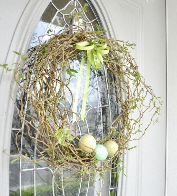 Haustür schmuck-Türkranz Ostern Frühling dekorationsideen