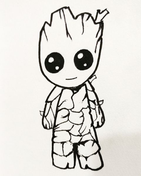 Image Result For Baby Groot Dessin Groot Dessin Groot