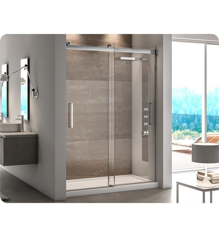 Fleurco Nm160 11 40 79 Mercury 45 72 Frameless In Line Bypass Sliding Shower Door With Dimensions 57 To 60 W X 79 H Approx Entry 28 And Hardware Fini Shower Doors Bypass Sliding Shower