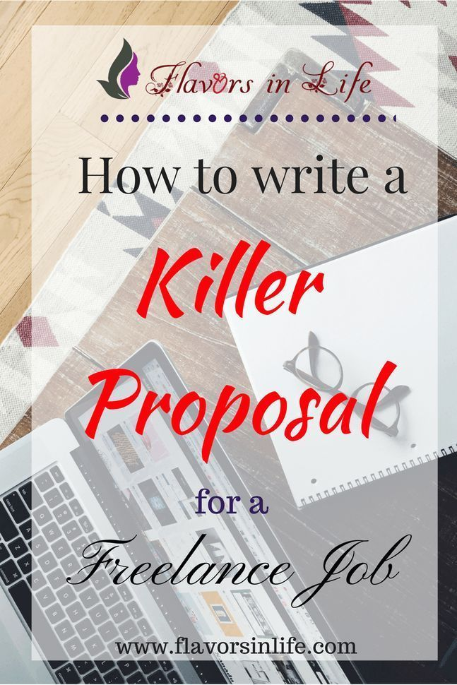 How to write a killer proposal for a freelance job