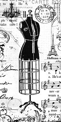 Dress form collage--another great source for vintage digi stamps--free