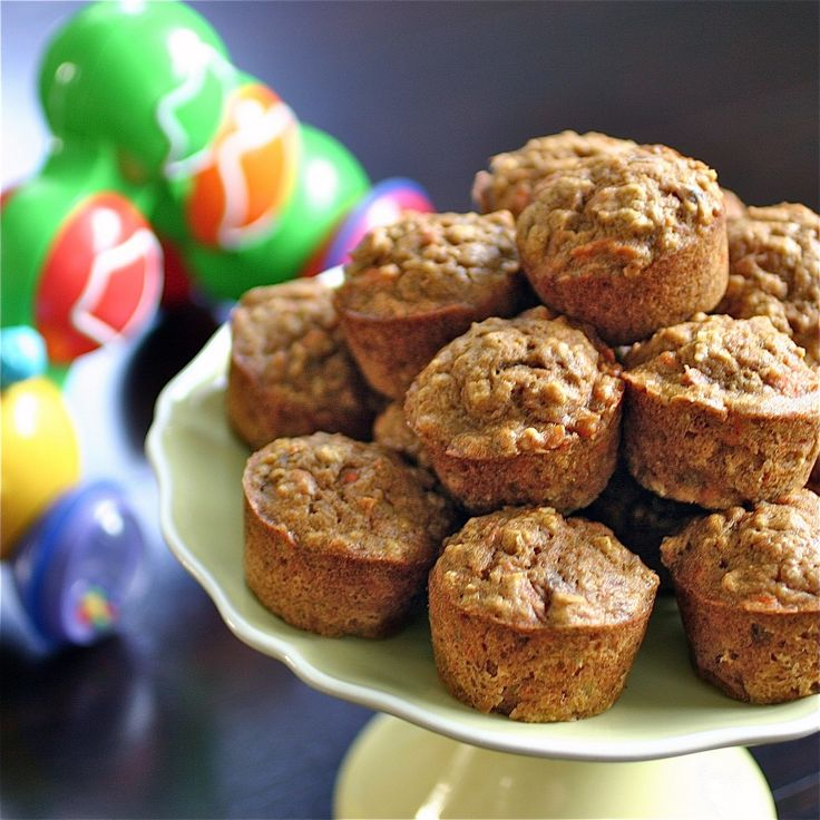 Toddler Muffins with Carrots, bananas, pumpkin