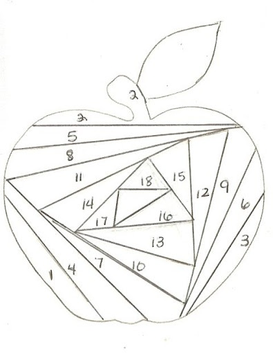 iris folded card = apple