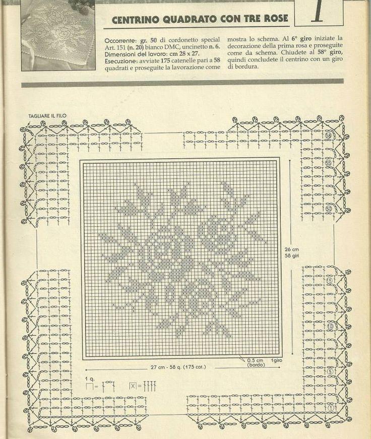 1760 best crochet filet images on Pinterest | Crochet, Crochet ...