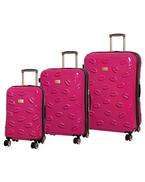 da0a6ee0f it Girl Smooch 8 Wheel Hardside Expandable 3 Piece Set, Pink | LUGGAGE in  2019 | Pink, Fashion